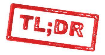 TL;DR…
